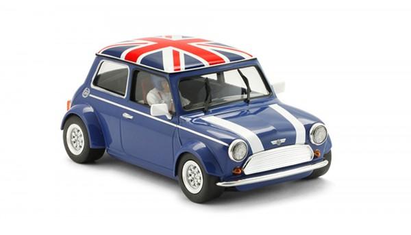 Slotcar 1:24 analog BRM Cooper Union Jack Blue Edition m.Classic-Räder
