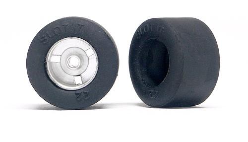 Reifen Slot.it Ø20,4x12,4mm (dwg 1068) hinten Vollgummi F22 f.Slotcars 1:32