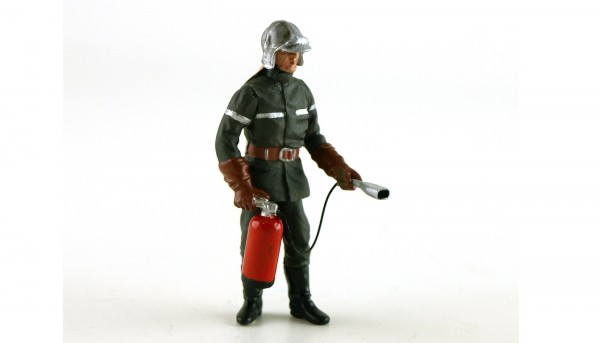 Modellfigur 1:32 LE MANS MINIATURES Feuerwehrmann Jean-Luc m.Feuerlöscher High Detail Collectors Edition