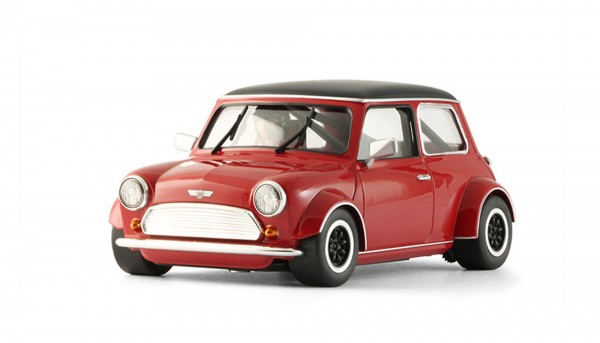 Slotcar 1:24 analog Cooper Black Roof Red Edition