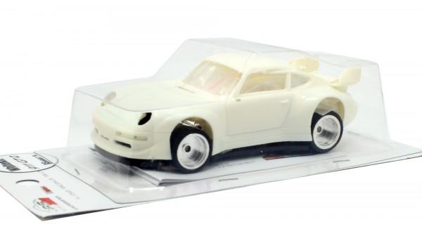 Slotcar 1:32 Bausatz analog REVOSLOT GT2 White Kit Typ B m.kleinen Frontspoileröffnungen