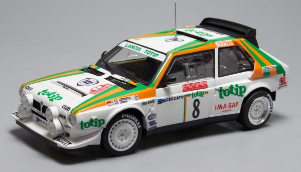 Standmodellbausatz 1:24 NUNU Lancia Delta S4 Rallye San Remo 1986 No. 8