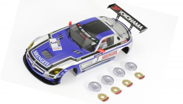 Karosserie 1:24 f.Slotcar SLS GT3 Nürburgring 2011 No. 3
