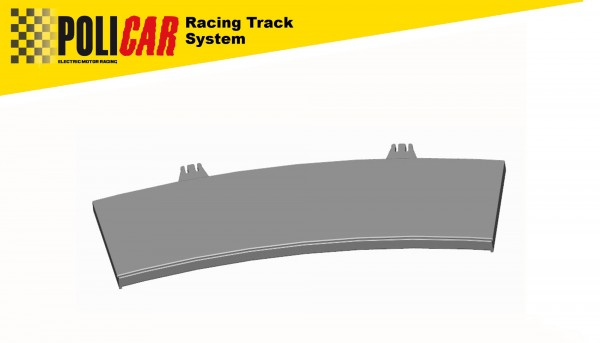 Randstreifen 1:32 Kurve Radius 2 / 22,5° innen f.POLICAR Racing Track System