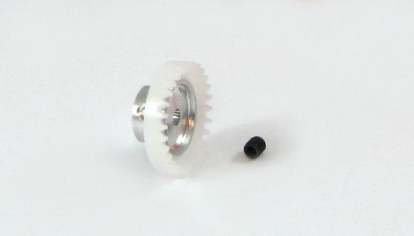 Kronzahnrad 3/32 30Z f.Ø2,38mm Plastik m.Alumiuniumnabe u.Innensechskant