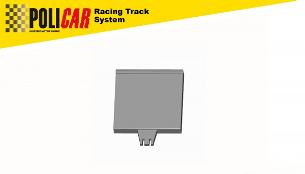 Randstreifen POLICAR Gerade 61,4mm innen u.außen f.POLICAR Autorennbahn 1:32 Racing Track System