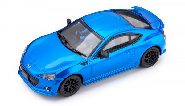 Slotcar 1:32 analog POLICAR Home Racers BRZ blaumetallic m.Licht