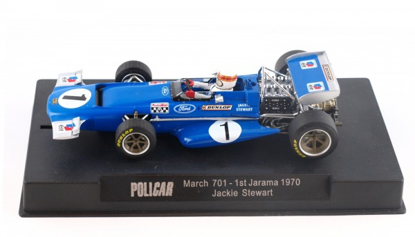 Slotcar 1:32 analog March 701 Jarama 1970 No. 1