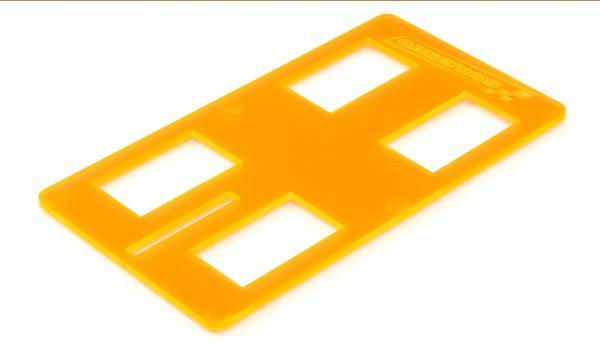 Fahrzeugtest- u.Abstellplatte Acryl f.Slotcars 1:32 & 1:24