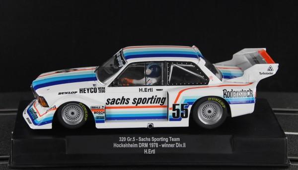 Slotcar 1:32 analog SIDEWAYS 320 Turbo Hockenheim 1978 No. 55