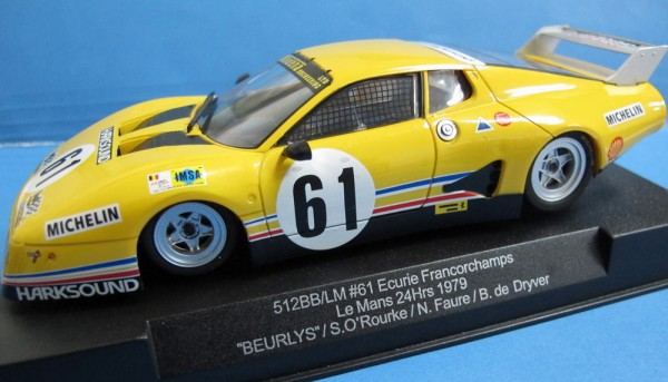 Slotcar 1:32 analog SIDEWAYS 512 BB Le Mans 1979 No. 61