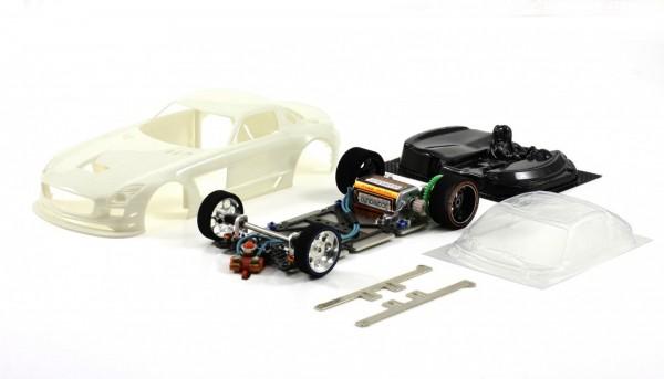 Slotcar 1:24 analog Bausatz SCALEAUTO Racing-RC2 Competition SLS GT3 White Kit