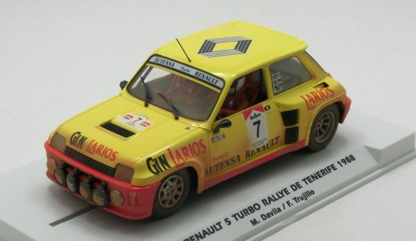 Slotcar 1:32 analog FLY R5 Turbo Tenerife 1988 No. 7 Special Edition m.Dirt-Effekt