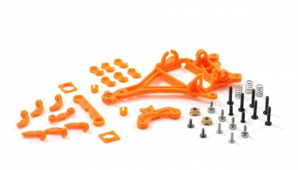 Motor- u.Hinterachshalter 1:32 RT4 Anglewinder Offset 0,75mm Plastik hart m.Kugellageraufnahme u.Seitenfixierung zur Montage von Flat- u.Long-Can Motoren
