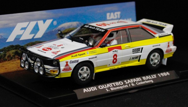 Slotcar 1:32 analog FLY A2 Rallye Safari 1984 No. 8