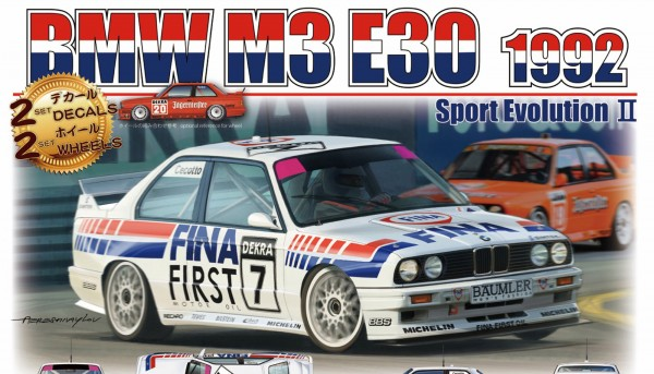 Standmodellbausatz 1:24 BEEMAX BMW M3 DTM 1992 No. 7 & 20