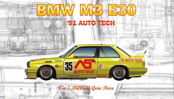 Standmodellbausatz 1:24 NUNU BMW M3 E30 Macau 1991 No. 18 & No. 35