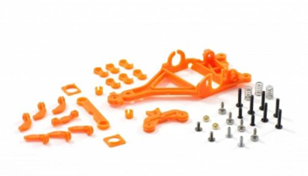 Motor- u.Hinterachshalter 1:32 RT4 Anglewinder Offset 0,75mm Plastik hart o.Seitenfixierung zur Montage von Flat- u.Long-Can Motoren