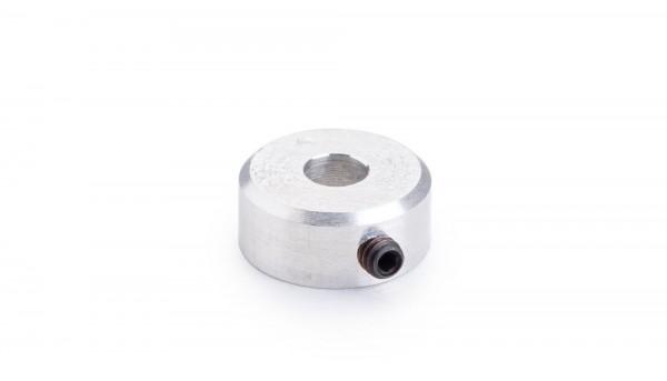 Achsmontagehalter f.Modular-Kronzahnräder zur Verwendung m.Ø5,5mm Motorritzel (Aluminium silber m.M2)