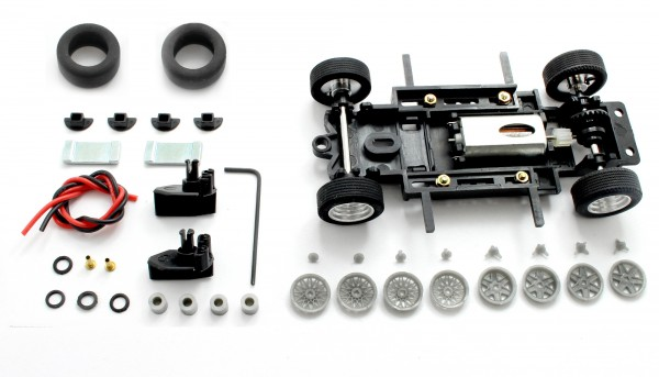 Fahrwerksbausatz Sebring Series Universal S1 Magnet Tuned f.Radstand 69-97mm m.Motor u.Zubehör