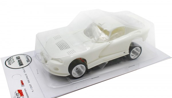 Slotcar 1:32 Bausatz analog REVOSLOT GTS-R White Kit