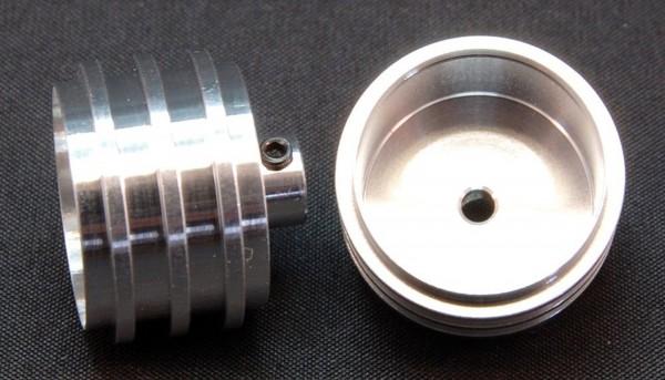 Felgen BRM 88C u.962 hinten Ø21,3x15,5mm f.Ø3mm Achsen Aluminium m.Madenschrauben f.Slotcars 1:24