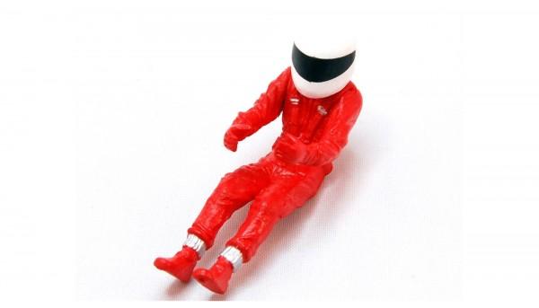 Fahrerfigur m.Overall rot u.Helm weiß f.Slotcars 1:24 BRM *