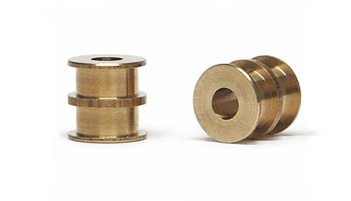 Achslager Slot.it Ø4,9mm Bronze m.Mittel- u.Außenbund beidseitig f.Slotcars 1:32