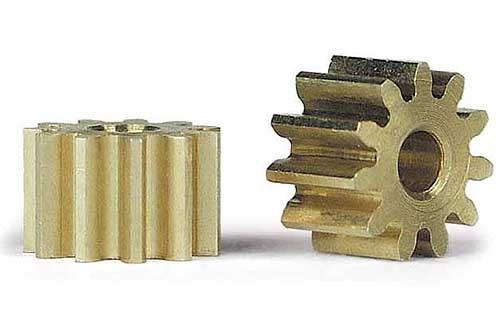 Motorritzel 11Z Ø6,5mm Messing f.Ø2mm
