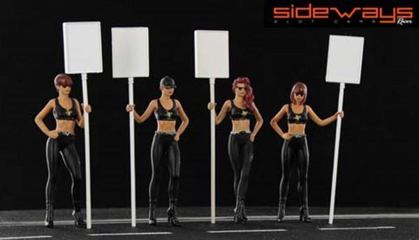 Modellfiguren 1:32 SIDEWAYS Grid Girl Dania m.Schild *