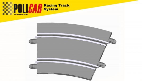 Kurve Radius 3/22,5° f.Autorennbahn 1:32 POLICAR Slotcar Racing Track System