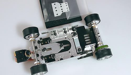 Komplettfahrwerk Super32 m.Ø2,38mm Achsen f.13D Motor