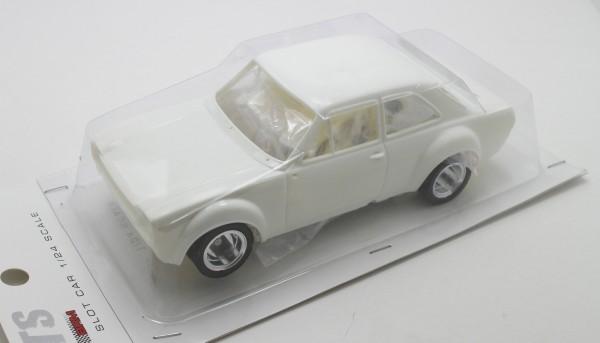 Slotcar 1:24 Bausatz analog TTS Escort White Kit
