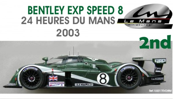 Slotcar 1:32 analog LE MANS MINIATURES EXP Speed 8 Le Mans 2003 No. 8 High Detail Resin Collectors Edition