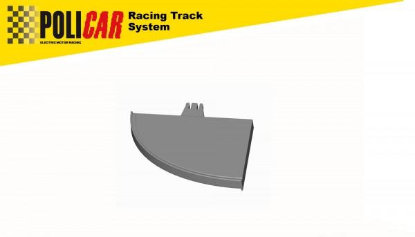 Randstreifen 1:32 Gerade Länge 90mm m.Abschluss rechts innen u.außen f.POLICAR Racing Track System