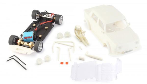 Slotcar 1:24 Bausatz analog BRM Simca White Kit Typ B m.eckigen Scheinwerfern