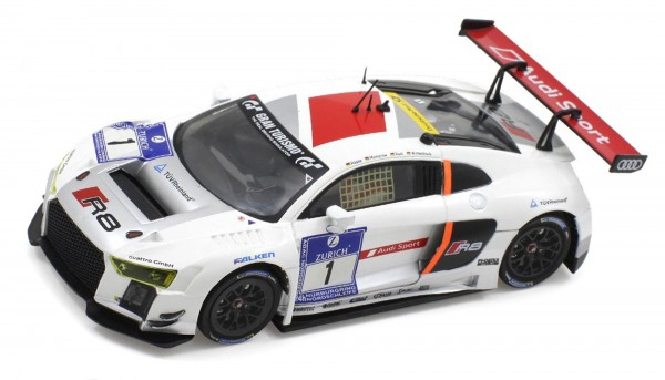 Slotcar 1:24 analog Bausatz SCALEAUTO Racing-RC2 Competition LMS Evo GT3 Nürburgring 2015 No. 1 White Kit m.Beklebungssatz