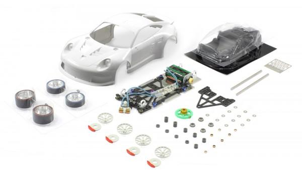 Slotcar 1:24 analog Bausatz SCALEAUTO Racing-RC2 Competition P991 RSR White Kit
