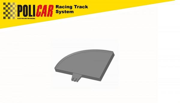 Randstreifenabschluss rechts f.Autorennbahn 1:32 POLICAR Slotcar Racing Track System