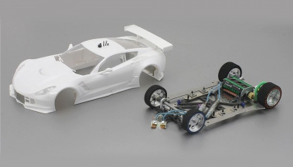 Slotcar 1:24 analog Bausatz SCALEAUTO Racing-RC2 Competition A7R GT3 White Kit