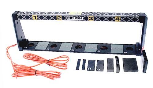 Autorennbahn-Lichtschranke DS Typ Universal f.4-Spuren m.7,8 bis 10cm Spurabstand