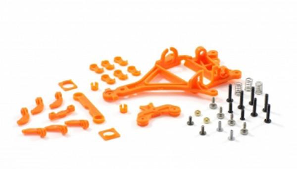Motor- u.Hinterachshalter 1:32 RT4 Anglewinder Offset 0,75mm Plastik hart m.Seitenfixierung zur Montage von Flat- u.Long-Can Motoren