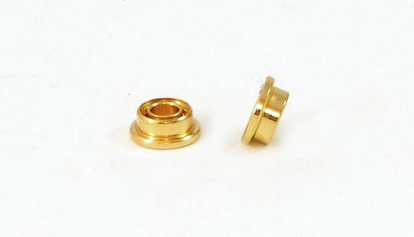 Achskugellager Gold 3/32 Ø4,76mm m.Bund f.Ø2,38mm Achsen