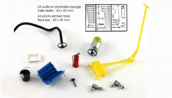 Modellzubehör 1:32 LE MANS MINIATURES Werkzeugsatz m.Zubehör High Detail Collectors Edition