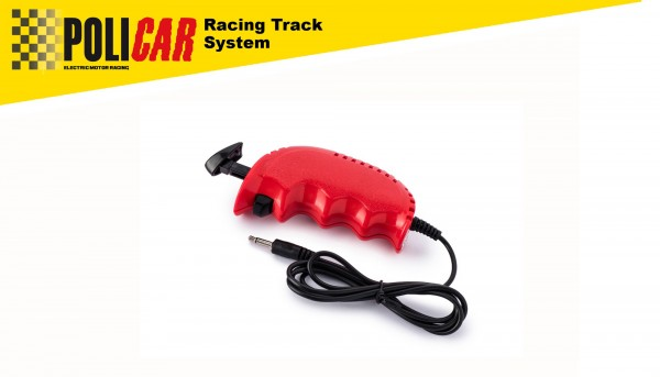 Geschwindigkeitsregler analog POLICAR Handregler 50Ω rot f.POLICAR Autorennbahn 1:32 Racing Track System