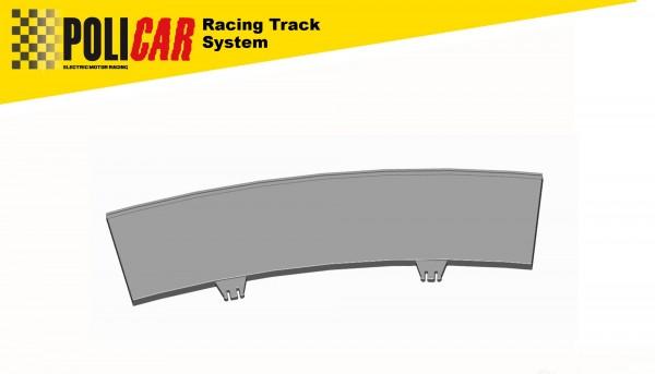 Randstreifen Kurve 3/22,5° außen f.Autorennbahn Racing Track System 1:32