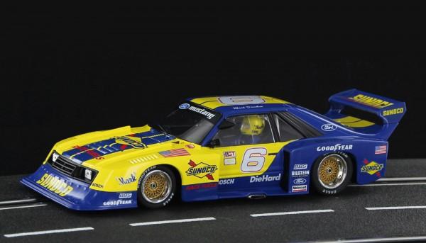 Slotcar 1:32 analog SIDEWAYS Mustang Turbo No. 6 Edition