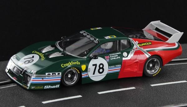 Slotcar 1:32 analog SIDEWAYS 512BB Le Mans 1980 No. 78 Edition