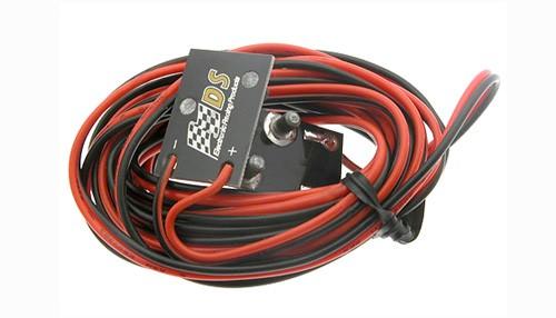 Autorennbahn-Stromeinspeisung DS Power-Kabelset 2,5 Meter m.Clips f.Schienen Scalextric Classic Track • SCX Original Track