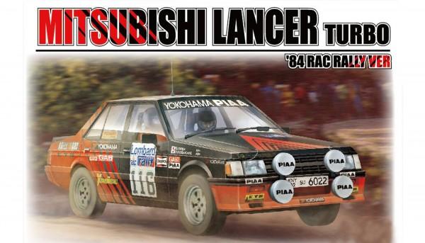 Standmodellbausatz 1:24 BEEMAX Lancer Turbo Rallye RAC 1984 No. 116